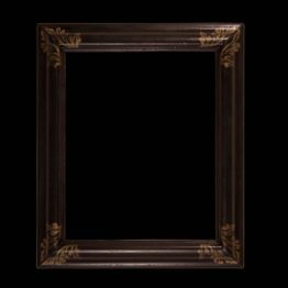 antique black picture frame